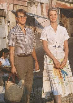 Inspired by the classic style of Matt Damon and Gwyneth Paltrow in The Talented Mr. Ripley