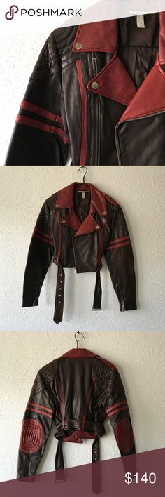 Jean Paul Gaultier Moto Jacket JPG for Target. 100% real lamb skin, 100% cotton body lining, polyester/viscose arms lining. ONLY WORN ONCE!!! in perfect condition 👍🏼 Jean Paul Gaultier Jackets & Coats Utility Jackets