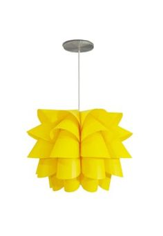 Pendente Lotus Avelis Amarelo