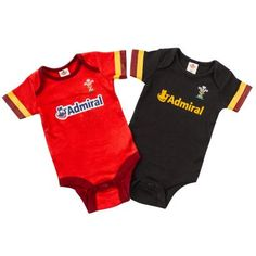 Wales Baby 2 Pack of Bodysuits 2016 - Front