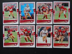 2020 Donruss San Francisco 49ers Niners Veterans Base Team Set 8 Football Cards #SanFrancisco49ers Football Cards, Baseball Cards, San Francisco 49ers, History, Soccer Cards, Historia