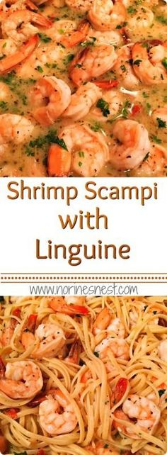Easy Shrimp Scampi in a delicious lemon white wine garlic butter sauce with Linguine. It's simple and fantastically yummy!!!