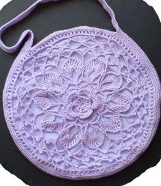 A flower bag with a lotus. We also have a variation on the original pattern.