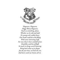 Hogwarts school song