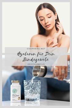 Mit hochdosiertem Hyaluron wird Dein Bindegewebe straffer und stärker - in jedem Alter! Fitness Workouts, Vitamin C, Alter, Engagement Rings, Health, Pink, Healthy Food, Losing Weight, Tips