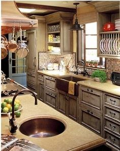 Love the countertop and the vegetable sink
