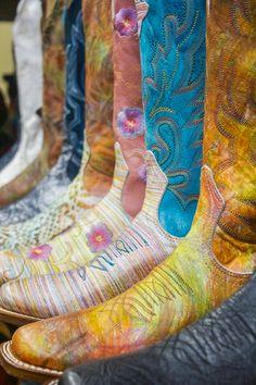 Colorful Boulet Cowboy Boots
