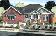 ***Plan No.249234 House Plans by WestHomePlanners.com - 1862 sq ft, 4 bedroom, 3 baths, cute and great layout, perfect! I think this may be my favorite.
