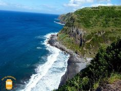 Visit São Miguel island and discover one of the most beautiful places in Portugal. If you're a nature lover and enjoy amazing landscapes visit the Azores! Places In Portugal, North Coast, Azores, Just Go, Trip Planning, Waterfall, Beautiful Places, Places To Visit, Ocean
