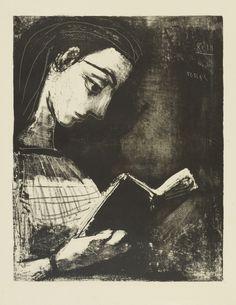 Pablo Picasso  Jacqueline lisant, 1957.