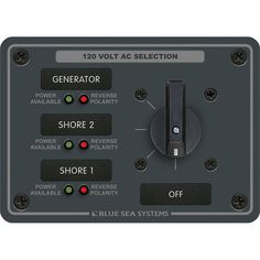 Blue Sea 8366 AC Rotary Switch Panel 30 Ampere 3 Positions + OFF, 2 Pole [8366]
