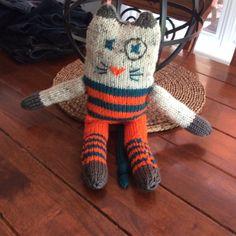 Amigurumi chat au tricot