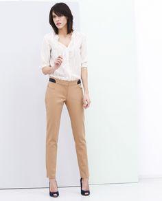 Nazwa produktu Straight Leg Pants, Khaki Pants, Beige, Suits, Products, Fashion, Moda, Khakis, Fashion Styles