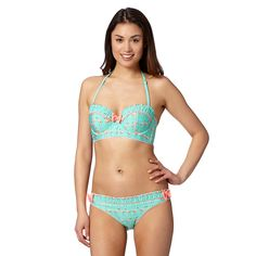 Floozie by Frost French Green flamingos underwired bikini top- at Debenhams.ie