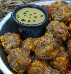 Garlic Cheese Sausage Balls