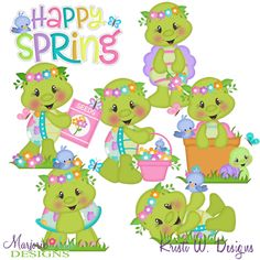 Happy Spring Turtles SVG-MTC-PNG plus JPG Cut Out Sheet(s) Our sets also include clipart in these formats: PNG & JPG