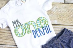 Boys First 1st Birthday Outfit Mr. OneDerful by SweetAndStitched
