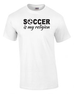 b178146fafb Soccer Is My Religion Printed Tee #playsoccer Soft Hands, Soccer Tips, Play  Soccer