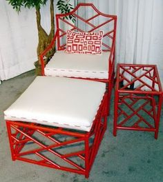 Chinoiserie Chic: A Chinoiserie Christmas - DIY Red - Chinoiserie Chic: A Chinoiserie Christmas – DIY Red - Asian Furniture, Bamboo Furniture, Oriental Furniture, Painted Furniture, Furniture Design, Repainting Furniture, Cane Furniture, Oriental Decor, Furniture Ads