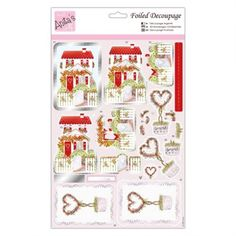 Anitas Foiled Decoupage - Valentines Cottage - Anitas from Mountain Ash Crafts UK