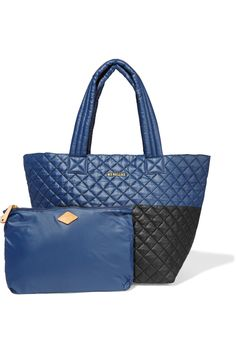 MZ WALLACE Metro two-tone quilted shell tote€210