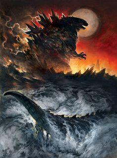 Godzilla 2014 artwork