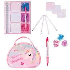 PENCIL CASE PURPLE Animal girls boys school stationery uni zip gift kids