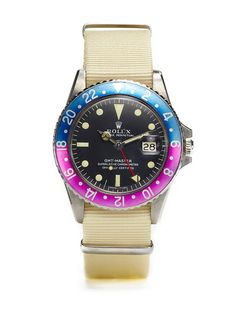 Vintage Rolex Oyster Perpetual GMT-Master (c. - Click picture for more info. Vintage Rolex, Vintage Watches, Fine Watches, Cool Watches, Watches For Men, Dream Watches, Rolex Oyster Perpetual, Rolex Gmt, Rolex Watches