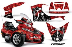 Not these graphics but the manufacturer is listed Can Am Spyder, Trike Motorcycle, 3rd Wheel, Biker Chick, Street Bikes, Sport Bikes, Hot Cars, Honda, Classic Cars