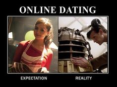 (dr who,doctor who,eleven,dalek,amusing) Doctor Who Tumblr, Doctor Who Funny, Doctor Humor, Dr Who, Doctor Who Season 7, Expectation Reality, Dalek, Film Serie, My Guy