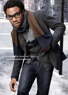 I love donald glover.   childish gambino-troy barnes-and 30 rock writer.  oh don't forget gap model.