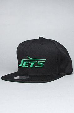The New York City Jets Logo Snapback Hat in Black by Mitchell & Ness  @karmaloop