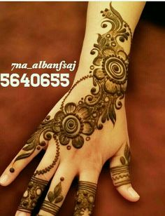 This post offers new arabic mehndi designs for women of every age from kids to adults and also for every occasion from casual parties to eid and weddings. Arabic Bridal Mehndi Designs, Stylish Mehndi Designs, Mehndi Designs For Girls, Beautiful Mehndi Design, Best Mehndi Designs, Henna Tattoo Designs, Mehandi Designs, Tattoo Ideas, Mehndi Design Pictures