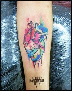 Audrey Hermanstadt #heart #watercolors