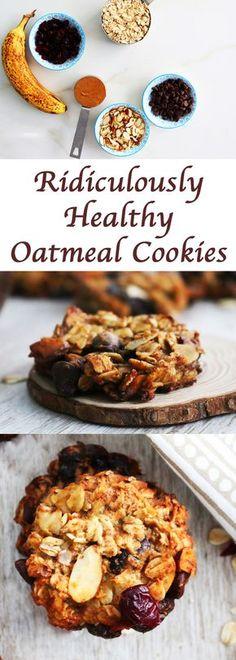 healthy cookie | healthy oatmeal cookie | Banana cookie | banana oatmeal cookie | healthy snack | almond cookie| flourless oatmeal cookie | healthy chocolate chip cookie | chocolate chip oatmeal cookie | gluten free oatmeal cookie | dairy free oatmeal cookie | clean eating cookie |vegan oatmeal cookie |