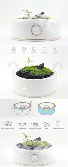 If you're not into plain old potted plants, there are plenty of alternative ways to exercise your green thumb! One ultra-cool example is this modern planter that makes it possible to create and manage your own micro-geothermal mini mountain. It's called the Smart Mountain and it utilizes a few neat tricks to keep your plants in perfect conditions. It monitors the soil with smart sensors that provide real-time feedback to the user via an app on their smartphone.