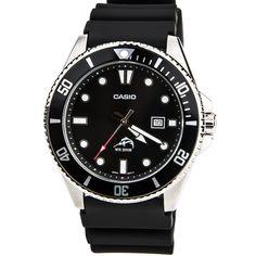 Casio MDV106-1A Men's Sports Black Dial Black Resin Strap Dive Watch