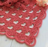 Tina's handicraft : crochet shawl heart stitch shape