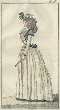 chemise and fichu-caraco - September 1792 Journal des Luxus und der Moden