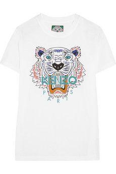 KENZO+Tiger+cotton-jersey+T-shirt+ +NET-A-PORTER 70£