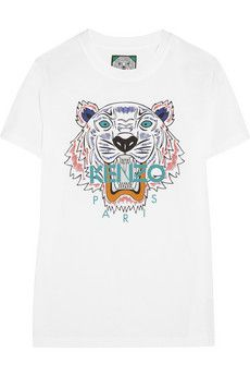 KENZO Tiger cotton-jersey T-shirt | NET-A-PORTER