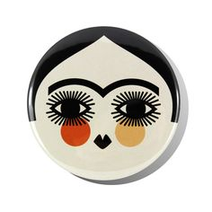 Frida Short Hair round mirror featuring the face of Frida Kahlo with her hair cropped.  This design is inspired by her 1940 self-portrait of the same name.Designed and printed in the United Kin...