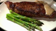Pan-seared steak with mustard cream sauce