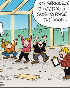 Roof replacement humor.  USA tips, ceramic sealcoating tips, www. usatipsonline.com