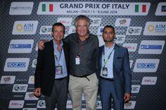 Da sinistra: Gianluca Buongiorno (presidente AIM Group International), Nicolò di San Germano (presidenteH2O Racing), Gianluca Scavo (amministratore delegato AIM Group)