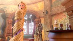 We spotted a familiar spindle in Rapunzel's tower.
