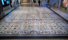 Huge (85 square meter) Roman-era Mosaic in the Gallo-Roman Museum in Lyon
