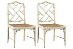 Charlotte Ivory Side Chairs, Pair 970 1 king lane