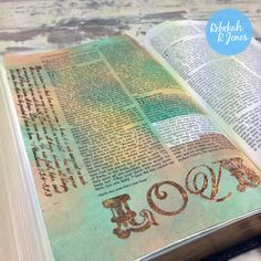 1 cor 13 Learn foiling in the Bible Art Journaling Challenge by Rebekah R Jones. Watch the video! Bible Study Journal, Art Journaling, Journal Art, Faith Bible, My Bible, Scripture Art, Bible Art, Architecture France, Corinthians Bible