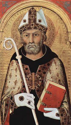* Agostinho de Hipona * (Aurelius Augustinus Hipponensis) {13/Novembro/354 - 28/Agosto/430} (by Simone Martini).
